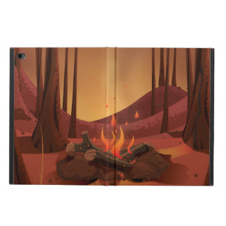Campfire in the forest. powis iPad air 2 case