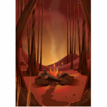 Campfire in the forest. statuette