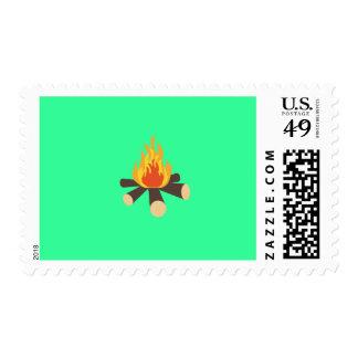Campfire Postage Stamp
