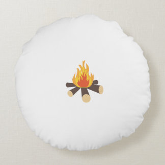 Campfire Round Pillow