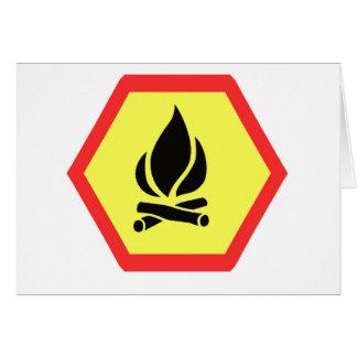 Campfire Sign Card