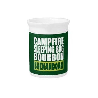 Campfire Sleeping Bag Bourbon Shenandoah Beverage Pitcher