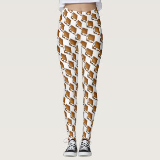 Campfire S'mores Marshmallow S'more Print Leggings
