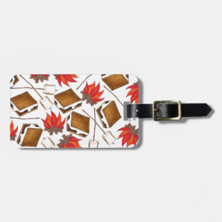 Campfire Smores Roasted Marshmallow Camp Bag Tag