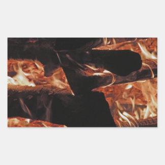 Campfire Rectangular Sticker