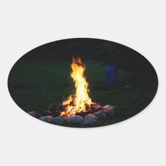 Campfire Oval Sticker