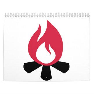 Campfire symbol calendar