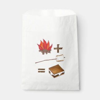 Campfire + Toasted Marshmallow = S'mores Camp Favor Bag