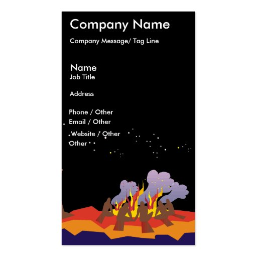 Campfire Travel Template Business Card