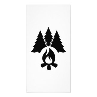 Campfire trees photo card