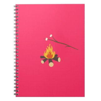 Campfire with marshmallows notebook