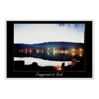 Campground at Dusk Poster