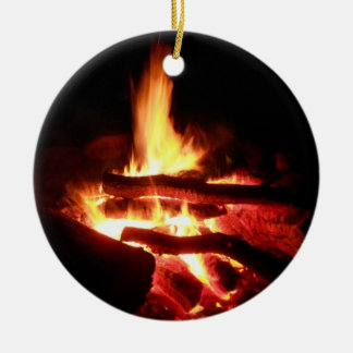 Campground Fire Christmas Ornaments