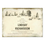 Campground Illustration Camping bridal shower Personalized Invitation