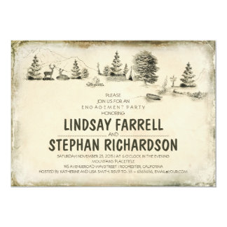 Campground Illustration Camping engagement party Card