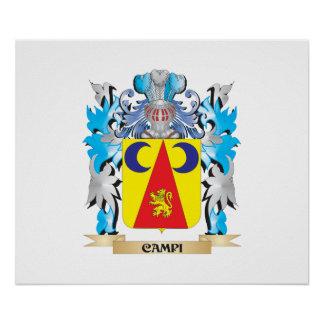 Campi Coat of Arms - Family Crest Print