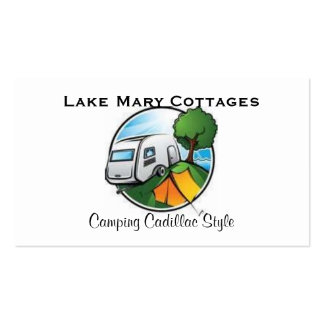 Camping and Fishing Double-Sided Standard Business Cards (Pack Of 100)