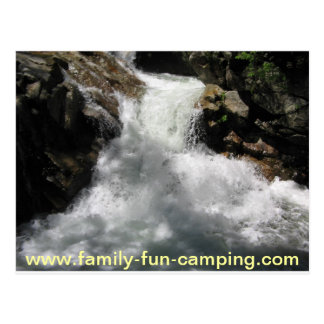 camping aparel postcard