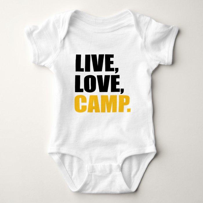 camping baby bodysuit