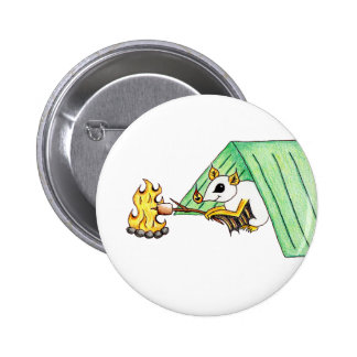Camping Bat Pinback Button