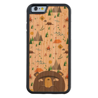 Camping Bear Carved Cherry iPhone 6 Bumper Case