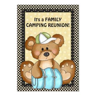 "Camping Bear Family Reunion Invitation 5"" X 7"" Invitation Card"