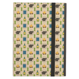 Camping Bear Rustic Pattern Cover For iPad Air