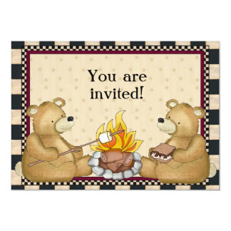 Camping Bears add words invitation