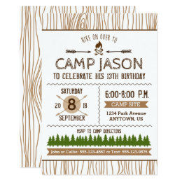 Camping birthday invitations announcements zazzle camping birthday invitation filmwisefo Choice Image