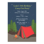 Camping Birthday Party | Boy Announcement