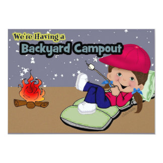 Camping Birthday Party Cards Personalized Announcement
