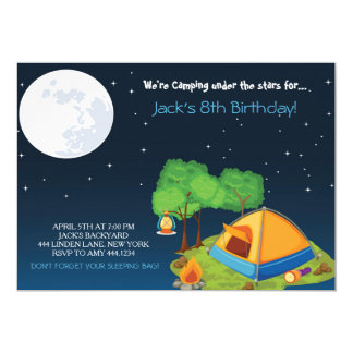 camping birthday party invitations - Camping Party Invitations