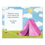 "Camping Birthday Thank You Card 4.25"" X 5.5"" Invitation Card"