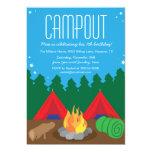 "Camping Bon Fire Birthday Party Invitation 5"" X 7"" Invitation Card"