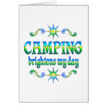 Camping Brightens Card