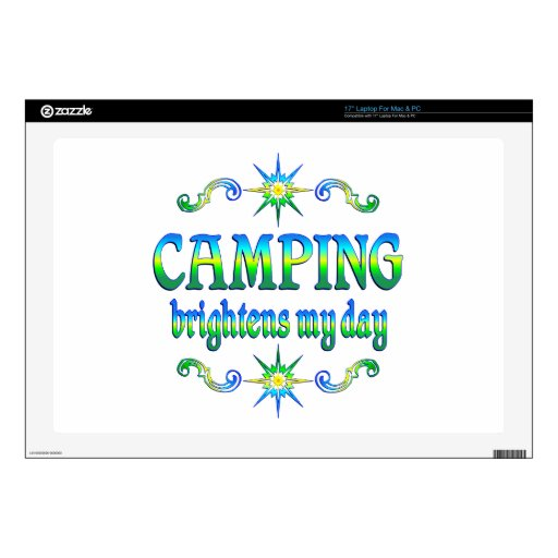 Camping Brightens Decals For Laptops