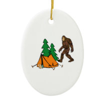 Camping Buddies Ceramic Ornament