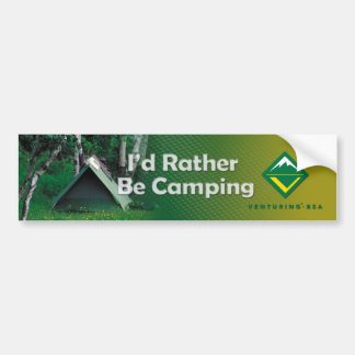 Camping Bumper Sticker Car Bumper Sticker