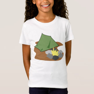 Camping By A Campfire Girls T-Shirt