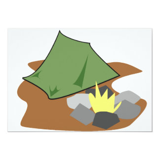 Camping By A Campfire Invitations