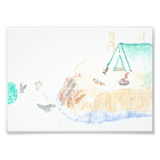 Camping by the Water 5x7 Photo Print