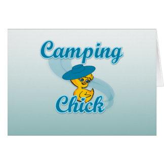 Camping Chick #3 Greeting Card