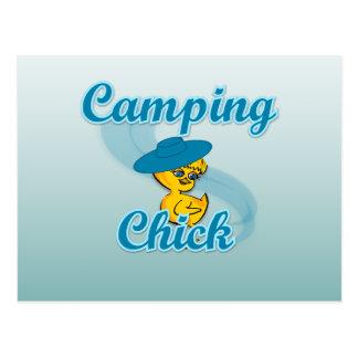 Camping Chick #3 Postcard