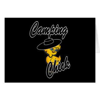 Camping Chick #4 Greeting Card