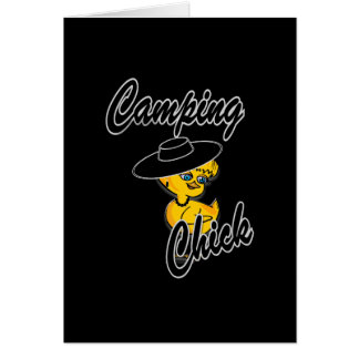 Camping Chick #4 Greeting Cards