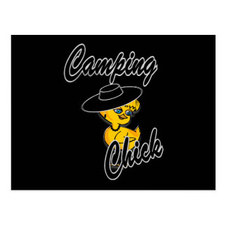 Camping Chick #4 Postcard