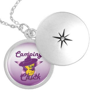 Camping Chick #9 Silver Plated Necklace