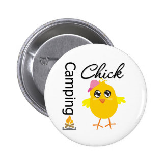 Camping Chick Button