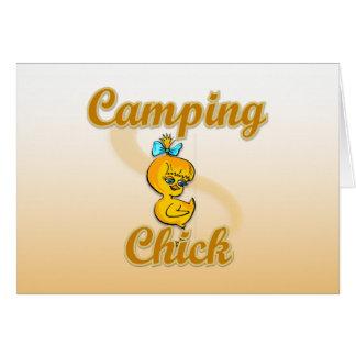 Camping Chick Greeting Cards