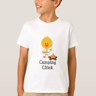 Camping Chick Kids T shirt